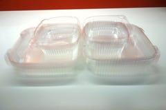Récipients de nourriture en plastique Photographie stock libre de droits