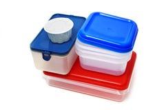 Récipients en plastique Image stock