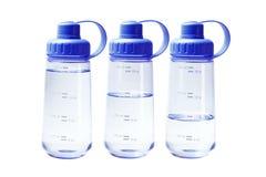 Récipients en plastique de l'eau Photos libres de droits