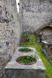 Récipients, site archéologique de Herculanum, Campanie, Italie Photographie stock