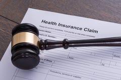 Réclamation d'assurance médicale maladie photographie stock libre de droits