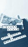Réclamation de blessures Photos libres de droits