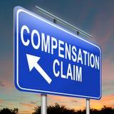 Réclamation de compensation. Photographie stock