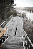 Réclamations en bois vers le lac Image libre de droits