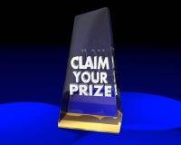 Réclamez votre gagnant professionnel de trophée de récompense illustration de vecteur