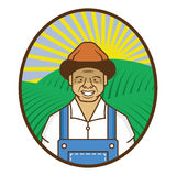 Récolte d'agriculteur Photo stock