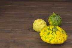 Récolte d'automne des potirons Préparation à Veille de la toussaint Légumes grandissants dans un jardin Endroit pour votre texte Photographie stock