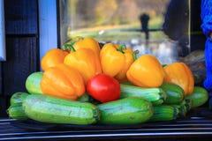 Récolte en automne en retard image stock