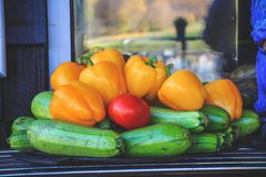 Récolte en automne en retard photos stock