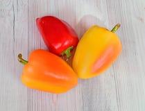 Récolte fraîche des poivrons doux Photographie stock
