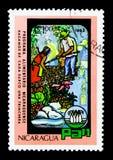 Récolteuses de fruits et légumes, serie de jour de nourriture du monde, vers 1982 Photo stock