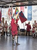 Récompensant le chevalier - gagnant aux chevaliers de ` de festival du ` de Jérusalem à Jérusalem, l'Israël photos libres de droits
