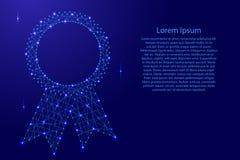 Récompense abstraite de certificat de joint avec des rubans de pôle futuriste illustration libre de droits