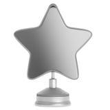 Récompense argentée d'étoile Images stock