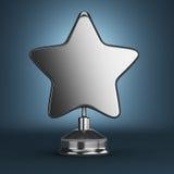 Récompense argentée d'étoile Photos libres de droits