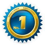 Récompense bien choisie du numéro un de l'éditeur illustration libre de droits