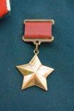 Récompense d'étoile d'or Photos libres de droits