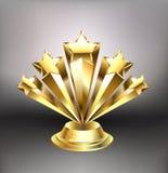 Récompense d'or d'étoiles illustration libre de droits