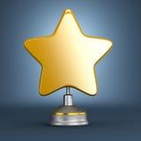 Récompense d'or d'étoile Photographie stock