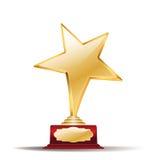 Récompense d'or d'étoile Images stock