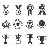 Récompense de trophée d'icône Images libres de droits
