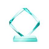 Récompense en cristal de plaque photographie stock