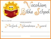 Récompense parfaite d'assistance d'école de bible illustration stock