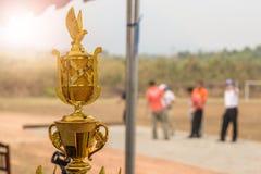 Récompense pour le match de Petanque dans le barrage images libres de droits