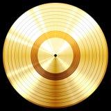 Récompense record de disque de musique d'or Photos stock