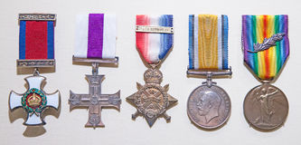 Récompenses britanniques de militaires Photo libre de droits