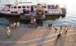 Récréation d'été d'Evenin à Prague Photos stock