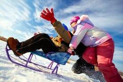 Récréation d'hiver Photo stock