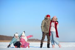 Récréation d'hiver Image libre de droits
