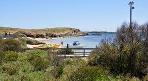 Récréation de l'eau : Île de pingouin, Australie occidentale Photo stock