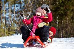 Récréation de l'hiver Photo libre de droits