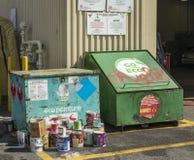 Récupération de peinture et de pétrole Images stock