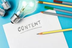 Rédaction de contenu photos libres de droits