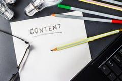 Rédaction de contenu image libre de droits