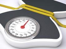 Réduction de la taille et du poids Photo stock