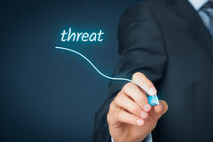 Réduction de menace images stock