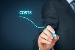Réduction des coûts Photographie stock libre de droits
