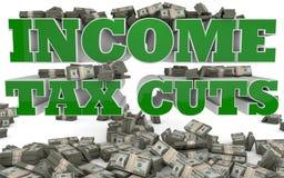Réductions des impôts de revenu - Etats-Unis Photo stock