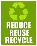 Réduisez la réutilisation réutilisent le signe Images libres de droits