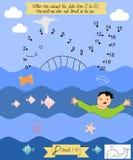 Référence biblique pour que les enfants relient les points Jonah The Prophet illustration stock