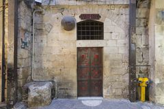 Référence 7 de Via Dolorosa, dans la vieille ville de Jérusalem, l'Israël image libre de droits