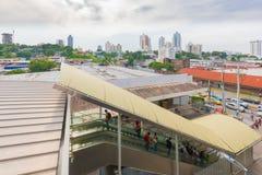 Référence souterraine extérieure 12 d'entrée d'octobre Panamá City photos libres de droits