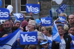 201 ; Référendum écossais Images libres de droits