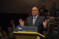 Référendum écossais Perth 2014 de l'indépendance Photographie stock libre de droits
