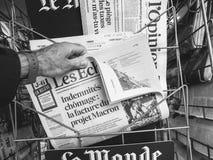 Référendum 2017 et protestation de la Catalogne Photo stock