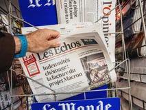 Référendum 2017 et protestation de la Catalogne Photographie stock libre de droits